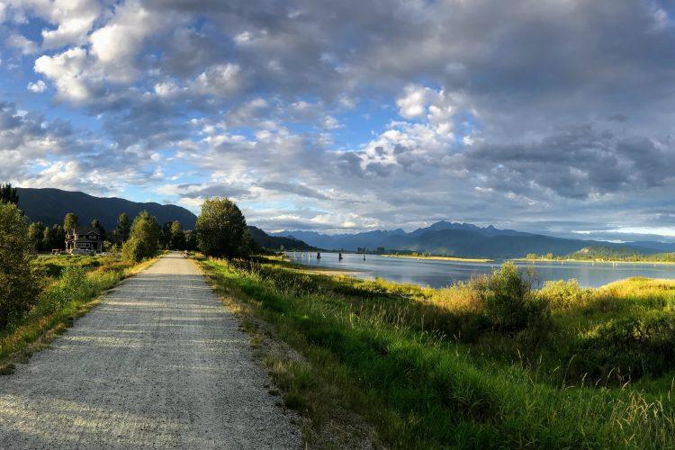Traboulay PoCo Trail, Port Coquitlam, BC.