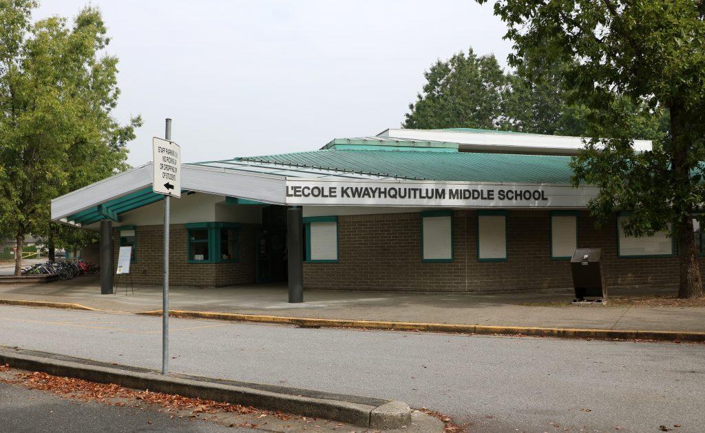 École Kwayhquitlum Middle School, Port Coquitlam, BC.