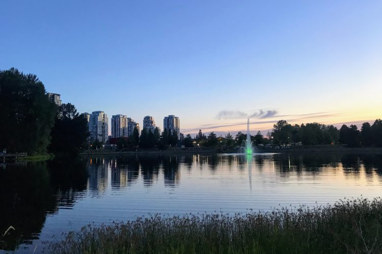 View of Downtown Coquitlam, BC.
