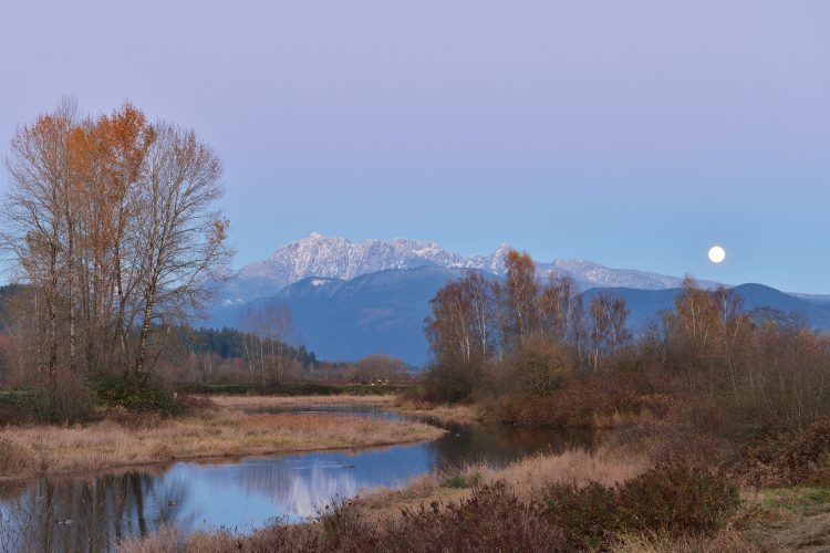 Pitt River and Golden Ears Mountain, BC